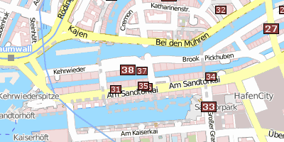 Stadtplan Hamburg Dungeon